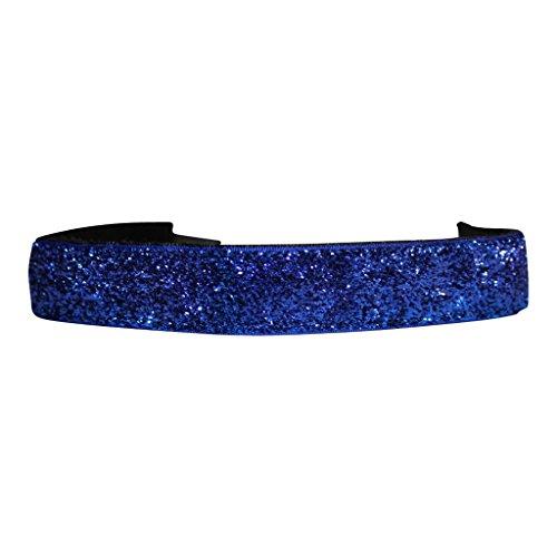 BEACHGIRL Bands Royal Blue Glitter Non Slip Adjustable Sports Headband For Women And Girls by BEACHGIRL