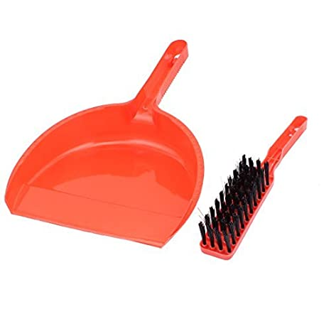 Amazon.com: eDealMax plástico de la esquina casero Gap Barrido Mini herramienta de limpieza escoba recogedor Conjunto: Health & Personal Care