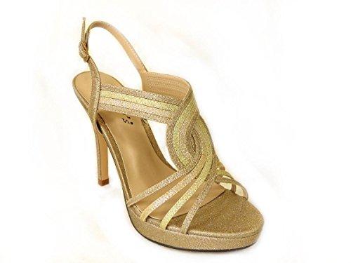 pour FEE03 Sandales femme Gold SKO'S RwHznq8x8