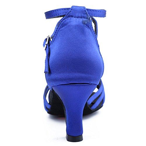 Shoes Shoes Latin Cl Model 7cm Dancing Azul HIPPOSEUS WZJ Dance Women's Ballroom xZqZYUw