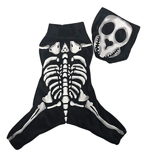 Two Tone Skeleton Dog Costume (Medium)