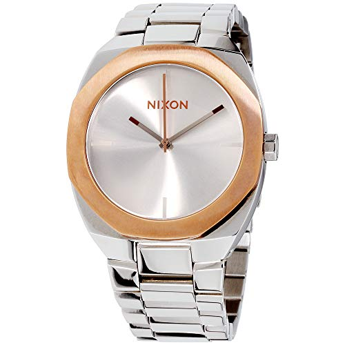 Nixon Women's Catalyst Silver/Rose Gold Watch