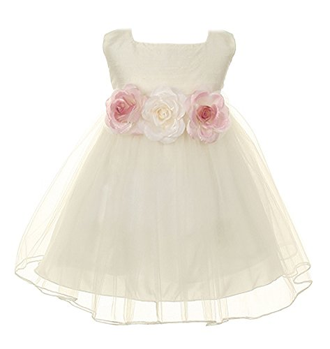 Ivory Silk Dress - 9