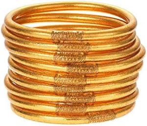 BuDhaGirl Gold All Weather Bangles (AWB) - Serenity Prayer