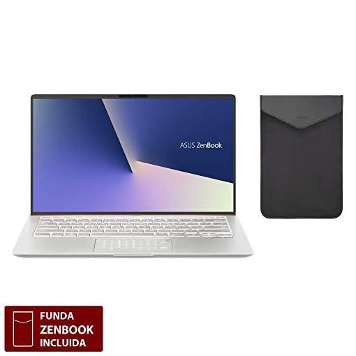 """ASUS ZenBook 14 UX433FA-A5144T - Portátil de 14"""" FHD (Intel Core i7-8565U, 8 GB RAM, 256 GB SSD, Intel UHD Graphics 620, Windows 10) Metal Plata Carámbano - Teclado QWERTY Español 2"""