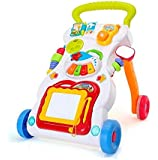 4 in 1 Children Music Walker Baby Learn Walk Stand Trolley Toys Drawing Board Music Instrument Mini Phone