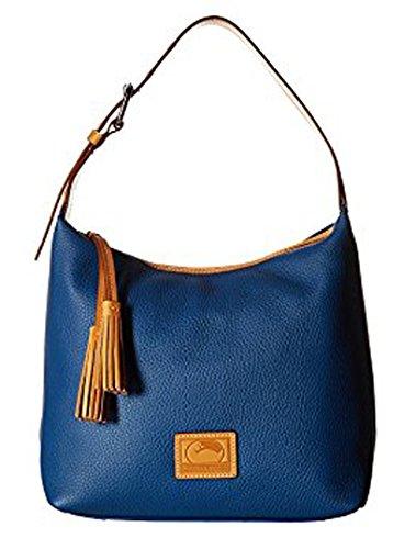 Dooney Bourke Patterson Paige Sac Marine/Butterscotch Trim Satchel Handbags