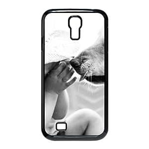 Jackalondon Cute Dog Samsung Galaxy S4 Case Baby and Puppy 01, [Black]
