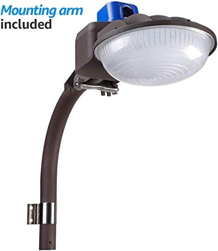 LEONLITE 75W LED Dusk to Dawn Barn Light, ETL Listed, Outdoor Security Area Lights with Photocell, IP65 Waterproof, Mounting Arm Included, 5000K Daylight, for Farm, Backyard, Street, Brown