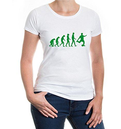 Girlie T-Shirt The Evolution of football | sport fútbol-S-white-green