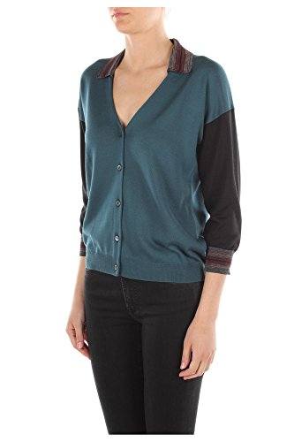P25C07OTTANIO Prada Cárdigans Mujer Seda Azul Blu