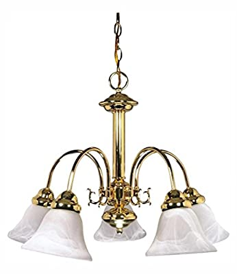 Ballerina - 5 Light - 24In. - Chandelier - W/ Alabaster Glass Bell S