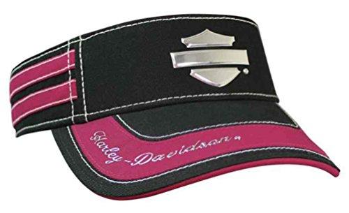 (Harley-Davidson Women's Liquid Metal Bar & Shield Visor, Black/Fuchsia VIS114491)
