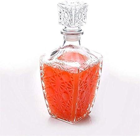 HLR Vasos de Whisky Jarra de Whisky Decantadores de Whisky de garrafa for espíritus Botella 1PC Vaso de Whisky Licor Bebe Vino Decanter Cristal Vino garrafa 250ML 500ML 850 ml (Color : 250ml)