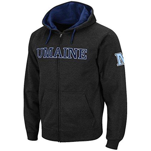 Colosseum Mens Maine Black Bears Full Zip Hoodie - XL ()