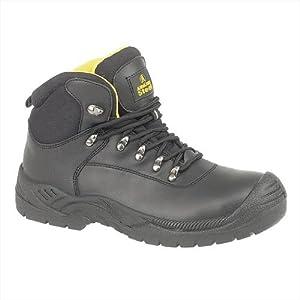 Amblers Steel FS220 Waterproof Safety Mens Work Boots - Black - Size UK 9 by Amblers Steel