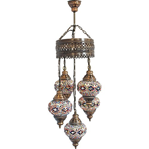 Turkish Glass Pendant Lights in US - 7