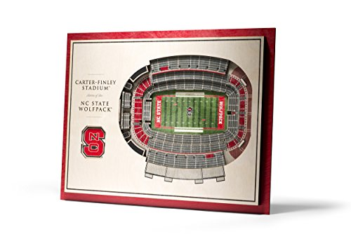 Photo Nc State - YouTheFan NCAA NC State Wolfpack 5-Layer StadiumView 3D Wall Art