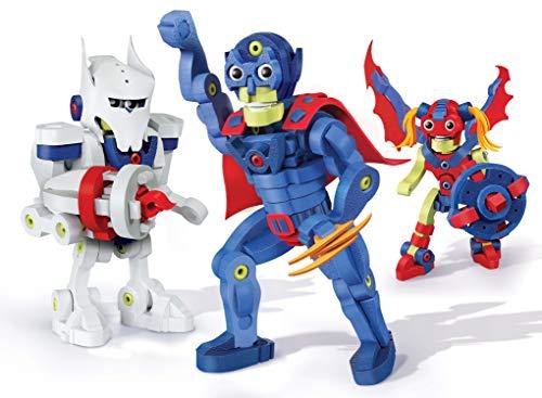 Bloco Toys Build Your Own Superhero | STEM Toy | Comics, Action Figures | DIY Building Construction Set (300 Pieces)