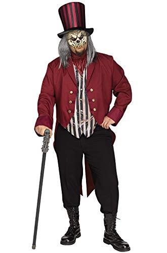 Freak Show Costumes For Halloween (Fun World Men's Freak Show Ringmaster Plsz, Multi, Plus)