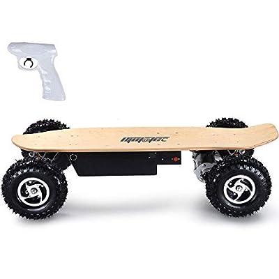 MotoTec 1600W Dirt Electric Skateboard Dual Motor, Black, Large : Sports & Outdoors