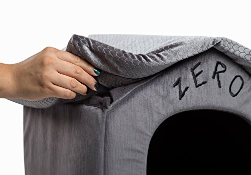 Disney Nightmare Before Christmas Zero Portable Pet House Dog Bed/Cat Bed with Detachable Top, Embroidery, Machine Washable, Dirt/Water Resistant Bottom (Available in Two Sizes) by Disney (Image #4)