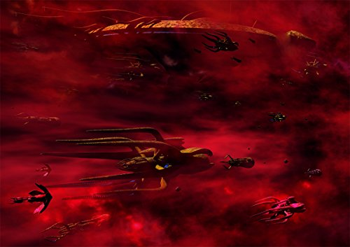 Babylon 5 Digital Art Glossy Print 'Vorlon Fleet' (A4 (Small) 8.3in x 11.7in))