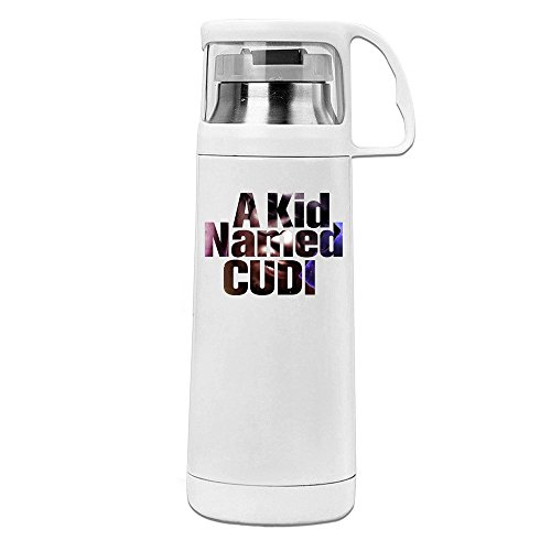 Handson Stainless Steel Vacuum Insulated Travel Tumbler A Kid Named Cudi Thermal Beverage Bottle White 14oz/350ml (Named Cudi Kid A)