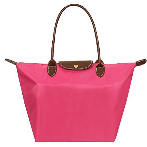 Bag Hot Durable Light Handle Tote Pink Pink Messenger Casual S Wiwsi Nylon Women L M Medium Fashion Hand zapqFX