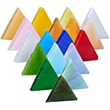 Pandahall Elite 1 Box (about 350 pcs) Mixed Color Triangle Mosaic Tiles Mosaic Glass Cabochons for Home Decoration Crafts Supply