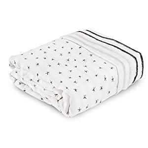 Aden + Anais Dream Blanket, 100% Cotton Bamboo Muslin, 4 Layer Lightweight and Breathable, Oversized 60 X 98 inch