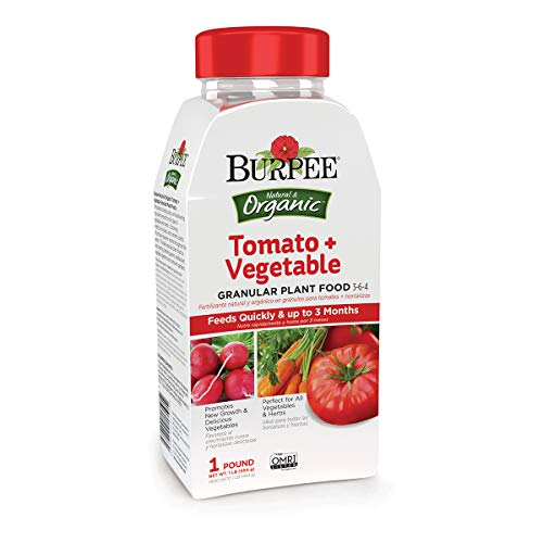 Burpee Organic Tomato and Vegetable Granular Plant Food, 1 lb, 1 lb
