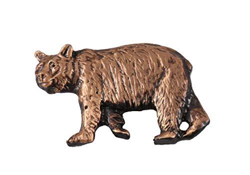 Creative Pewter Designs Black Bear Walking Mammal Copper Plated Lapel Pin, Brooch, Jewelry, MC033 (Animals Common Woodland)