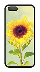 Beautiful Sunflower 2 - iPhone 5S Case Funny Lovely Best Cool Customize Black Cover