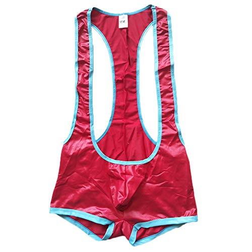 F plus R Men's Faux Leather Jockstrap Bodywear Red Small