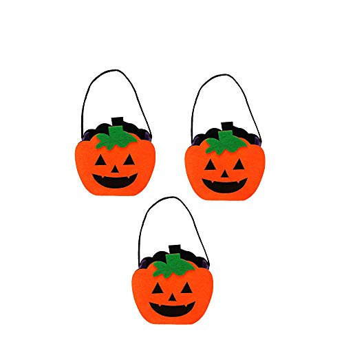 3 Pieces Halloween Felt Cloth Tote Bag Decorations Props Creative Pumpkin Pattern Portable Gift Candy Bags Reusable Tote Bags for Kids or Costume Party Favors Supplies]()