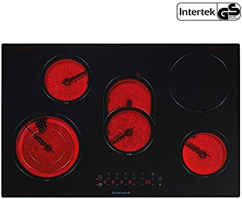 vitrocerámica vitrocerámica con 5 placas y sensor Touch ...