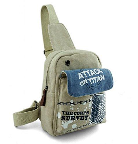 CherishL® 2015 HOT Attack on Titan Cartoon Anime Messenger Bag Shoulder Bag Backpack School Bag