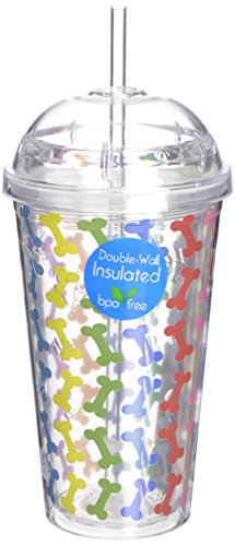LittleGifts Rainbow Bones 18-Ounce Dome Etched Cup