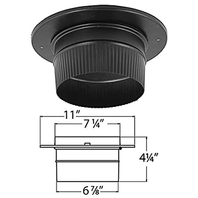 "DuraVent 7DBK-ADSL 7"" Inner Diameter - DuraBlack Stove Pipe - Single Wall - Snap, Black"