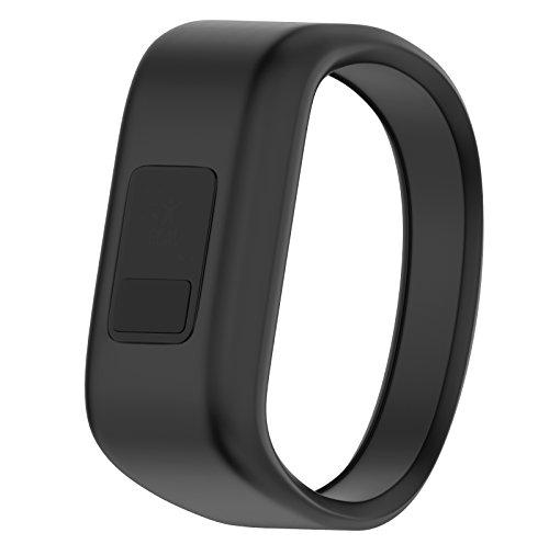 ANCOOL Compatible Garmin Vivofit JR Bands Replacement Silicone Sports Wristbands Compatible Garmin Vivofit JR/Vivofit 3(NOT Including Tracker) - Small Black