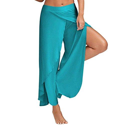 Pantalone Waist Tempo High Donna Taglie Pants Irregular Blu Moda Libero Baggy Luce Monocromo Eleganti Larghi Estivi Gonna Forti Pantaloni Damigella gqgAzwxSr