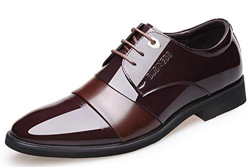 Wies Leder Brown Kleid Farbe Shiney Business Männer Hochzeitsschuhe 2018 Britische I1OwOqv6R