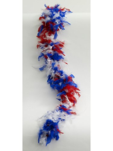 (Red, White, Blue Boa For Adults)