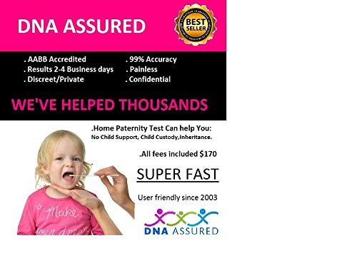 DNA Assured - DNA Paternity Test Kit with All Lab Fees Included-No Child Support! Helps with Child Custody and Inheritance Cases