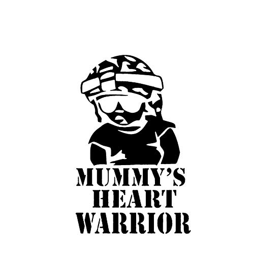 Hitada - 10x15.5CM Handsome Mummy's Heart Warrior Car Sticker Decal Soldier Black/Silver Covering The Body Vinyl ()