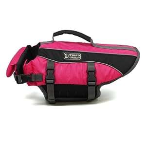Outward Hound Kyjen  2523 Dog Life Jacket Quick Release Easy-Fit Adjustable Dog Life Preserver, Small, Pink