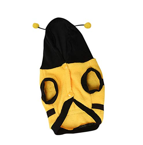 (Pet Sweater,JHKUNO Puppy Dog Cute Bumble Bee Costumes Party Dress Hoodie Sweater Pet Dog Cat Warm)