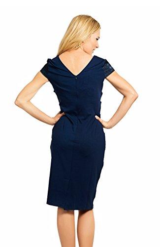clasichic - Vestido - Sin mangas - para mujer Purplish Blue