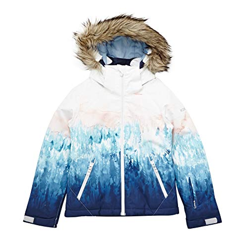 (Roxy Jet Ski Girls Snow Jacket Age 12 Bright White Snowyvale)
